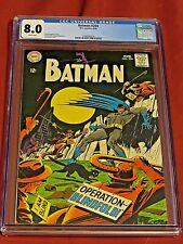 BATMAN 204 CGC 8.0 Novick Giella Robbins 1968