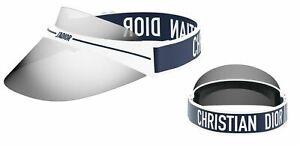 NEW Christian Dior DiorClub1  WWK White Navy- Grey Adjustable Shield Visor Hat