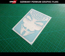 V for Vendetta DISOBEY Anonymous Guy Fawkes Hacker Car Decal Vinyl Sticker #06