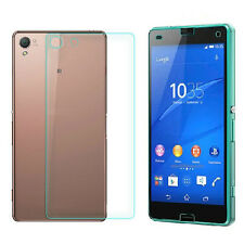 For Sony Xperia Z3 Compact Front+Back Tempered Glass Film Screen Protector Tide