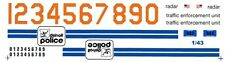 DETROIT Police 1/43rd Scale Slot Car Waterslide Decals
