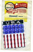 vtg prismatic sticker USA crest America flag pride liberty American