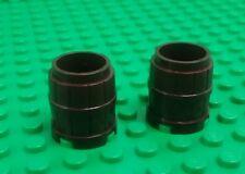 *NEW* Lego Dark Brown 2x3 Stud Barrells Ships Boats Pirates Islands - 2 pieces