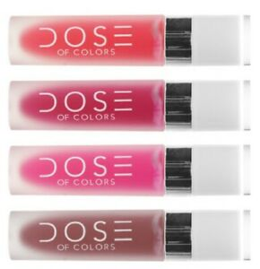 Authentic DOSE OF COLORS Liquid Matte Lipstick - 4.5ml -  9 Shades Available