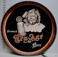 "1930's Standard Tru-Age Beer 12"" Metal Tray - Scranton, PA"