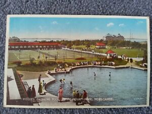 1949 Valentine's, Kiddies Paddling Pool, Happy Mount Park, Morecambe