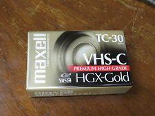 MAXELL TC-30 VHS-C HGX-GOLD 62m Premium High Grade Video Camcorder Tape NIP NOS