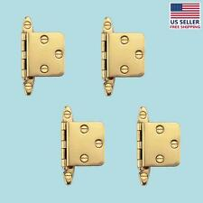 """4 Cabinet Hinge Semi-concealed Solid Brass 1.75"""" W 