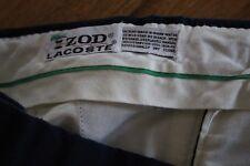 Izod Lacoste Mens Casual Golf Shorts Navy Flat Crocodile size approx 34 36 EUC