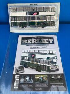 1/43 1/43eme Collection Berliet N°83 BUS A ETAGE BERLIET PCMR-E RATP HACHETTE