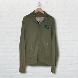 Nike Track and Field Sweatshirt khaki Green Zip Up Top Size Large