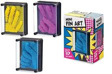 Mini Plastic 3D Pin Art Toy Assorted Colour Pins Desktop Xmas Kids Novelty Gift
