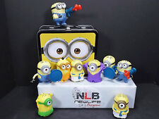 Despicable Me Minion Metal Tin Lunch Box W/ 9 McDonald's Happy Meal Toys