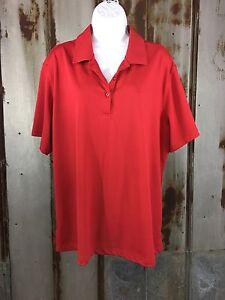 MONTEREY CLUB Polo Golf Shirt Women Plus Sz. XXL Red EUC