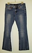 WOMENS LEVIS 518 DENIM BLUE JEANS SIZE 7 MEDIUM W31/L30 AT WAIST SUPERLOW