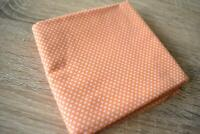 FQ Fabric Orange Polka Dots 50x90cm Cotton Gingham Quilting Home Decore Crafts