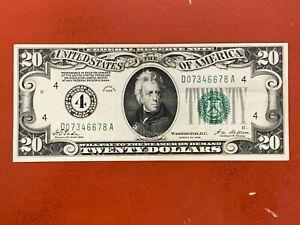 1928 $20 Federal Reserve Note Cleveland Higher grade