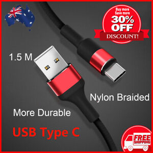 USB Type C Charging Cable Quick For Samsung Huawei Xiaomi Charger data cable