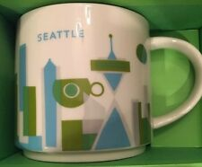 [Free shipping] NWB Mini-3oz Starbucks City Mug, SEATTLE «You Are Here» Ornament