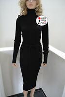 Wolford Merino Rib Dress Kleid Wool Wolle black schwarz Medium
