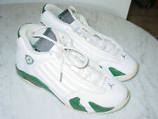 """2011 Nike Air Jordan Retro 14 """"Forest Green"""" White Shoes Size 10 Sold As Is!"""