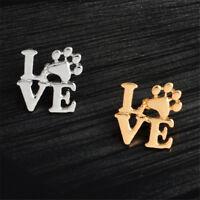 Love dog cat paw print pins brooch Pet memorial jewelry Keepsake jewelry BSCA