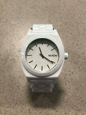 Nixon A250-1100 Ladies White Ceramic Time Teller Watch - DEAD BATTERY 7/10