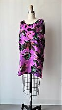 Marni Multi-Color Floral Printed Silk/Linen Blend Sleeveless Tunic Sz IT40
