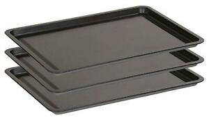 Premium Bakeware Set Non Stick Baking Trays Oven Sheets Roasting Pack Of 3 Sets
