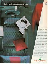 1992 Publicité'Vintage Cathay Pacific Airlines Hong Kong Marco Polo Business