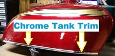 CHROME MOTORCYCLE FENDER GAS Tank EDGE TRIM PROTECTION KIT (USA) Made!