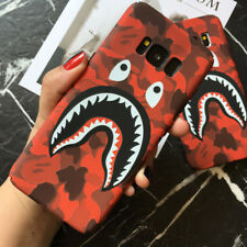 Camo Bape Camouflage Shark Design Hard Case Cover For iPhone SE 6S 7Plus Samsung