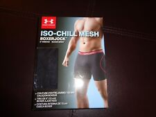 New Mens Under Armour Iso Chill Boxer Jock. Black Size XL X-Large . UA 6 inch