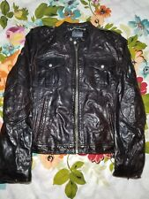 ZARA MAN Men's Brown Genuine Leather Jacket Size Medium EUC