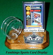 Los Angeles Kings NHL Sports Card Display Hockey Puck Holder Logo Gift