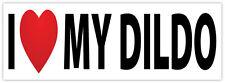I LOVE MY DILDO amo il mio dildo divertente etichetta sticker 20cm x 8cm