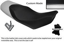 WHITE & BLACK CUSTOM FITS KTM 690 DUKE 07-11 DUAL LEATHER SEAT COVER