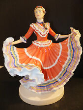 Royal Doulton Dances of the World Mexican Hat Dance Figurine HN5643 Hand Signed