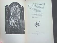 Johnson 'THE NEW LONDON LETTER WRITER' GOLDEN COCKEREL PRESS 1948 LIMITED ED
