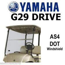 Yamaha G29 Golf Cart AS4 Windshield DOT Approved Hinged Fold Down (Strreet Legal