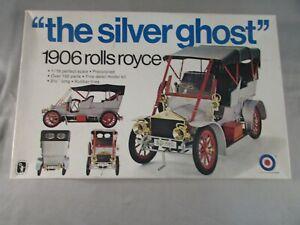 Entex The Silver Ghost 1906 Rolls Royce 1/16 Scale Model Kit #8467