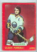 GILBERT PERREAULT 1973-74 O-Pee-Chee 73 Hockey Card #70 VG NHL Buffalo Sabres