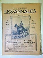 Les Annales N°1519- 4 Aout 1912, Le Palais du Mikado  Partition musique
