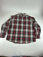 Woolrich Sz 2XL Red Plaid L/S 100% Cotton Flannel Button Shirt