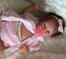 REBORN BEAUTUFUL  BERENGUER BABY DOLL ROOTED BROWN  HAIR CUSTOM GIRL