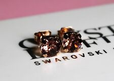 Blush Rose Stud Earrings made with 6mm Swarovski Crystal Elements Finish Options