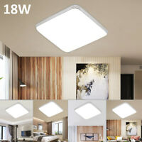 Bright 18W Square LED Ceiling Down Light Panel Kitchen Bathroom Lamp 1400lm UK