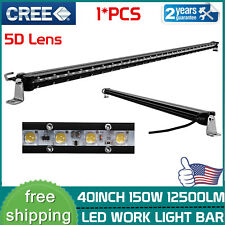 40inch CREE 150W Slim LED Light Bar Single Row 5D Optical Lamp Boat Truck 42/44