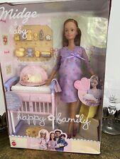 Rare Barbie Happy Family Pregnant Midge & Baby boxed MIB 2002