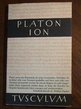 Platon-Ion. Griechisch/Deutsch. Tusculum-Bücherei
